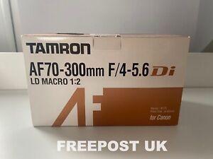 Tamron AF 70-300mm F/4-5.6 Di LD Macro 1:2 Lens CANON EF FIT - MINT - FREE DELIV