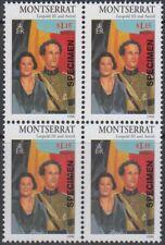 Specimen, Montserrat Sc947 Block, 20th Century Royalty, Leopold III & Astrid