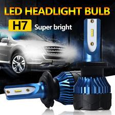 2 un. Bombillas LED Azul H7 Hi/Lo faros kit 300000LM CREE chips 6000K Xenon Blanco