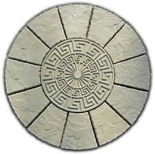 PAVING  GREEK KEYSTONE CIRCLE PATIO SLABS STONES( DELIVERY EXCEPTIONS)
