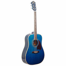 Oscar Schmidt OG2TBL-A Dreadnought Acoustic Guitar (Blue)