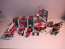Lego Fire Station Bundle 7208 + 7239+7238+7241+60000, 1 piece missing,1 replaced