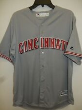 91030 MENS Majestic CINCINNATI REDS Offical Cool Base Baseball JERSEY GRAY $79