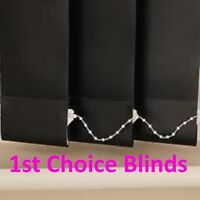 QUALITY MADE TO MEASURE COMPLETE VERTICAL WINDOW BLINDS BLACK 89mm