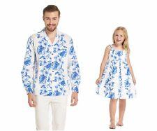 Made in Hawaii Father Daughter Matching Luau Dance Dress Shirt Plumeria Pink XL 8
