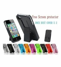Light Green Hard Case Non-Slip Back with Stand Holder for Apple iphone 4 4G 4S