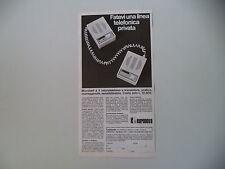 advertising Pubblicità 1970 TELEFONO EURONOVA