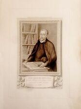 ANDALUCÍA,CÓRDOBA, JUAN GINÉS DE SEPULVEDA.  Grabado original 1791-1819,