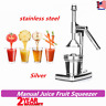 Commercial Manual Juicer Hand Press Squeezer Orange Citrus Juice Fruit Stainless