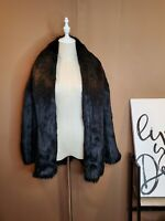 NEW Alice + Olivia ALITA Faux Fur SHAWL COLLAR Coat Oversized Jacket RARE Sz L