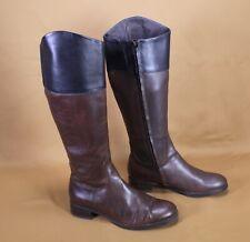 17S The Twins Damen Stiefel Boots Leder Gr. 36 braun flach Reiterlook