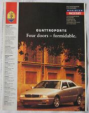 1995 Maserati Quattroporte Original advert