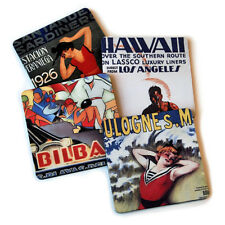 Vintage Travel 1 Flexible Drink Coasters Set / 4 Made in the USA Free Shipping