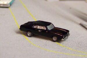 N scale 1970 Chevelle (black) *CUSTOM FINISHED* N gauge detail 1:160 scale