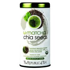 Matcha Organic Green Tea Powder The Republic of Tea Chia Seeds 1.5 oz / 12+ Cups