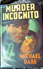 murder incognito michael dare good condition HB DJ 1947 1st ed partridge