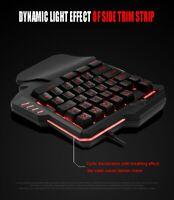 Wired RGB Backlight Recording Gaming-Tastatur für WinXP Windows 2000 Win7 10