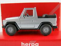 Herpa 3075 Mercedes-Benz 230 GE Cabrio (1982) in silbermetallic 1:87/H0 NEU/OVP
