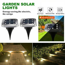 LED Solar Power Buried Disk Light Ground Lawn Pathway Waterproof Lamp Lawn Light