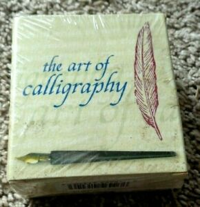 NEW The Art of Calligraphy Set Kit Pen Ink Instruction Book Writing - Free Ship