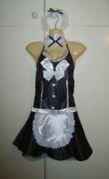 Ladies Sexy French Maid Fancy Dress Costume Outfit Hen Night Party M New