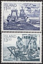 Iceland 1983 Mi 600-601 Fishing Industry; Ship MNH
