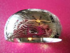 Silver Etched Bangle Bracelet