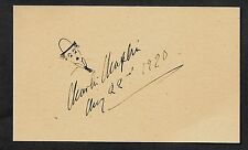 Charlie Chaplin Autograph Reprint On Genuine Original Period 1920s 3x5 Card