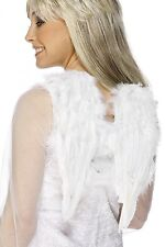 """Real Feather Angel Wings White Costume Club Wing Small 16"""" Span Womens Adult NEW"""