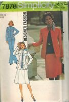 7878 UNCUT Vintage Simplicity Sewing Pattern Misses Pants Skirt Jacket Designer