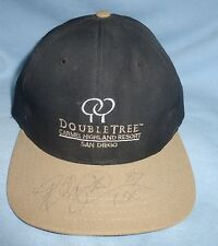 Billy Davis Signed Football Golf Hat Cowboys Super Bowl XXX Ravens XXXV Auto'd