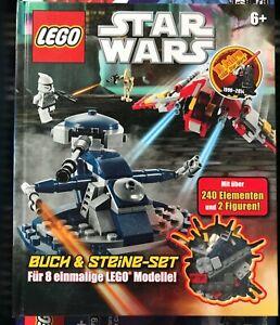Lego Star Wars Buch &Steine-Set 8 Lego Modelle Über 240 Teilen und 2 Figuren