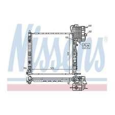 Fits Mercedes Vito W638 2.3 110 D Genuine Nissens Engine Cooling Radiator