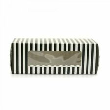 50pcs Pack Swiss Roll Brownie Tray Long Cake Box Color Black & White With Insert