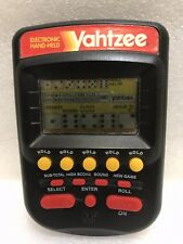 Yahtzee LCD Hand Held Electronic MB Milton Bradley Classic Game Black 1995 4511