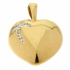 Reinheit VS Echte Diamanten-Halsketten & -Anhänger aus Gelbgold mit Herz