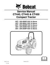 Bobcat CT440 CT445 CT450 Compact Tractor New 2009 Edition Repair Service Manual