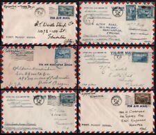 Kanada 1938 - 6 Luftpost- bzw. Erstflug-Belege