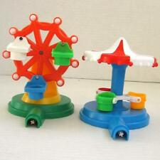 Vintage 1986 Disneyland Play Set Replacement Ferris Wheel and Merry Go Round