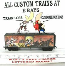 Ho Custom Lettered Micky Mouse Trick Or Treat Boxcar Collectible Reefer Lot D
