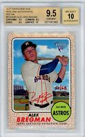 Alex Bregman 2017 Topps Heritage Real One RED INK Auto RC #/68 BGS 9.5/10 True+