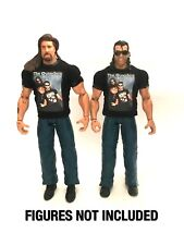 WWE Kevin Nash & Scott Hall 'The Outsiders' Custom Shirts For Mattel Figures.