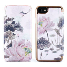 Ted Baker Lyra Luxury Floral Mirror Folio Case for iPhone 8 Lake of Dreams