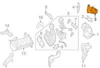 Mercedes Benz Sprinter W906 Recirculation Ligne Adaptateur A6511402108 Neuf Vrai