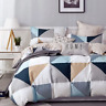 Ardor Trent 100% Cotton Quilt Cover Duvet Doona Set Queen/Blue
