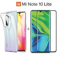 COVER per Xiaomi Mi Note 10 LITE CUSTODIA TPU + PELLICOLA VETRO TEMPERATO CURVO