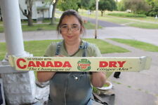 "Canada Dry Ginger Ale Soda Pop Gas Oil 32"" Metal Door Push Bar Sign"