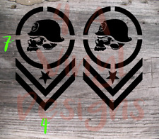 "2X METAL MULISHA CHEVRON MOTOCROSS ARMY VINYL DECAL STICKER 7""X4"""