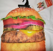 Adult Mens or Womens HAMBURGER Food Costume Dress Up Burger Pullover Padded Vest