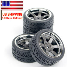 1:10 Scale RC Car 12MM Hex Rubber Tires 26mm Wheel Rim Set For HSP HPI Model